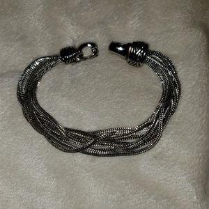 Artisan 8 strand Sterling silver women's bracelet